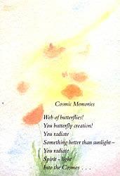 Folded card: Cosmic Memories