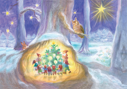 Gnomes around the Christmas Tree: Small Advent Calendar