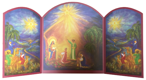 The Holy Family with the Three Kings