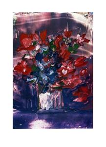 Folded card: Begonias