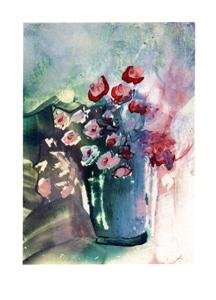 Folded card: Roses