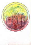 Folded card: Gathering Firewood