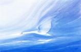 Folded card: Swan in flight