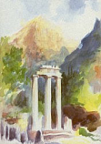 Postcard: In the Precinct of The Temple of Athena Pronaea