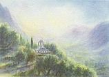 Postcard: Sunrise at The Temple of Athena Pronaea