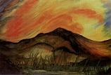 Postcard:  Mountain Sunset