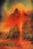 An Autumn Landscape: Large folded card