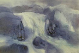 Postcard: Elemental Beings with Waterfall