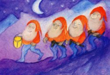 Postcard: The gnomes moonlit walk