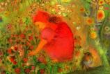 Postcard: Flower-child