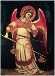 Print: St. Michael with the Scales