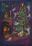 Preparing for Christmas Night Christmas Card