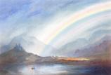 Folded card: Rainbow Landscape