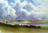 Postcard: Cattle at the loch-side