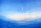 Postcard: Moon over the sea