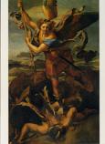 Postcard: St. Michael slaying the dragon