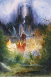 Print: Parzival on the Way to the Grail Castle