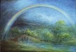 A Rainbow over the bridge: Folded card