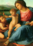 Print: Madonna di Casa Alba – detail
