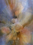 Postcard:Roses in Mist