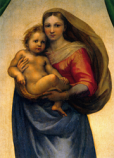 Postcard: The Sistine Madonna – detail