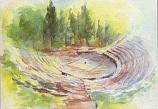 Postcard: The Amphitheatre at Delphi