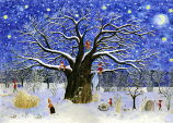 Tree in the Snow: Small Advent Calendar