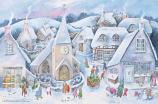 Village Winter Scene: Medium Advent Calendar