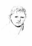 Postcard: Kaspar Hauser. Early Portrait