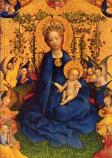 Print: Blessed Virgin in the Rose Bower