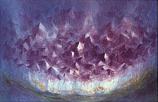 Amethyst Crystals: Folded card