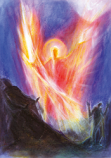 Folded card: Michael with the Sword of Light