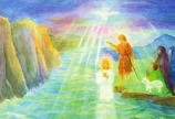 Print: Baptism in the Jordan