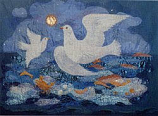 Postcard: The Doves of St. Columba, Iona