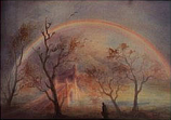 Rainbow - Bridge: Large folded card