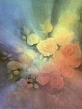 Midsummer Roses: Large folded card
