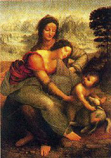 Postcard: Madonna with Child and St. Anne