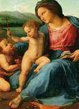 Postcard: Madonna di Casa Alba (detail)