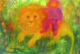 Postcard: The good lion