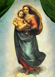 Postcard: The Sistine Madonna - Mother and Child